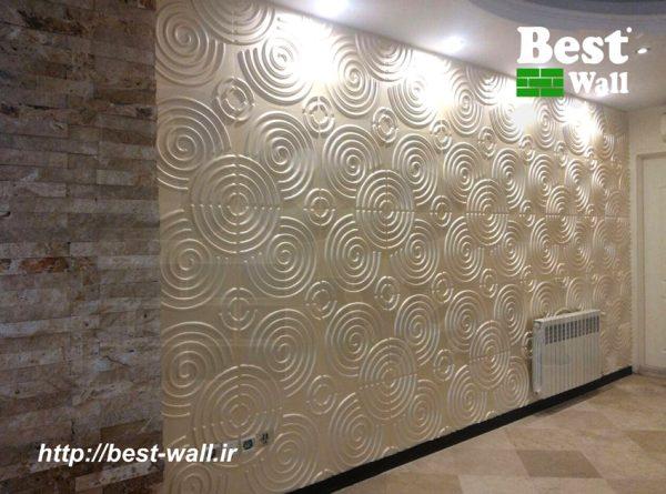 دیوارپوش سه بعدی طرح گرداب