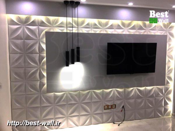 دیوارپوش پلیمری سه بعدی چهاربرگ