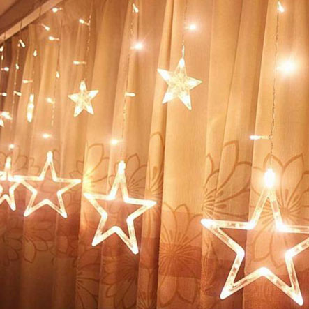 نورپردازی با ریسه دکوراتیو ستاره