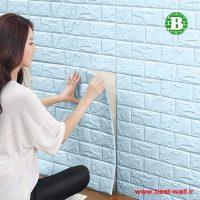 دیوار پوش فومی آبی