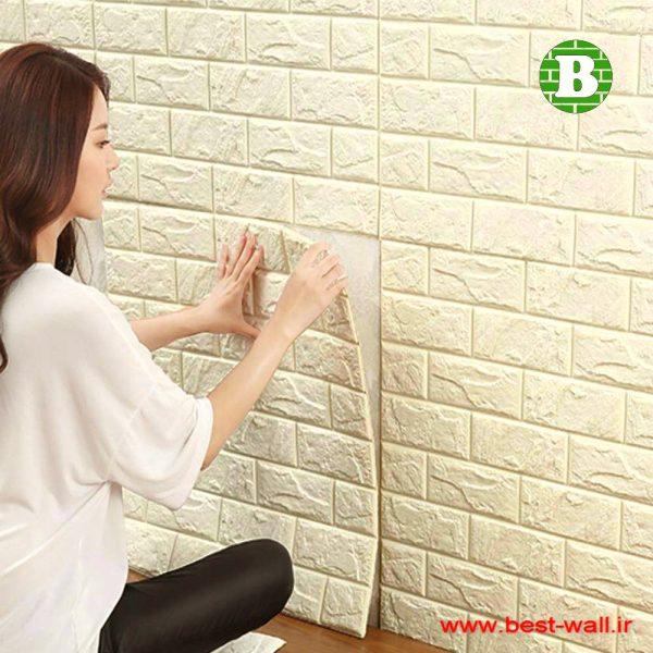 پنل و دیوارپوش فومی کرم رنگ