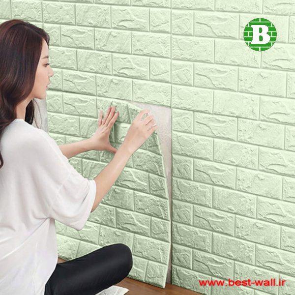 دیوارپوش و پنل فومی سبز روشن