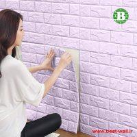 دیوارپوش و پنل رنگ یاسی