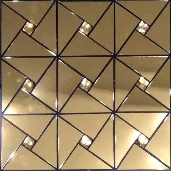 تایل دکوراتیو طلایی آینه ای