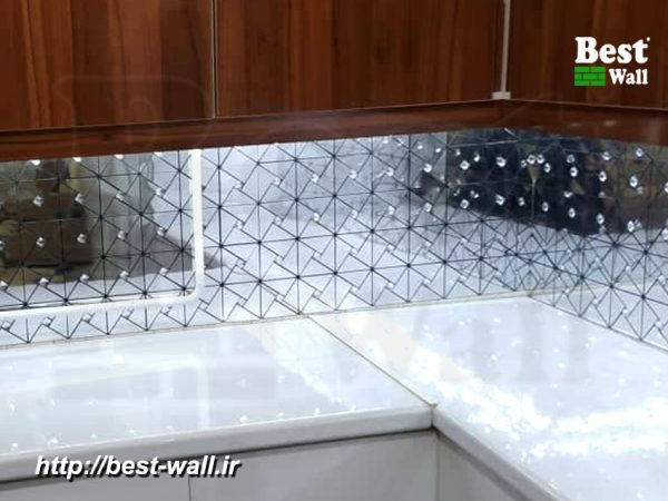 کاشی آشپزخانه آینه ای