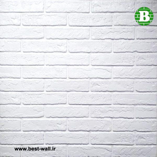 پنل فومی طرح آجر بهمنی سفید خارجی