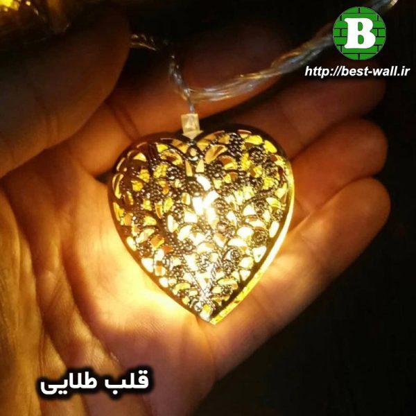 ریسه نورپردازی قلب طلایی