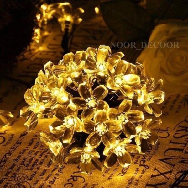 ریسه نوری طرح شکوفه گل