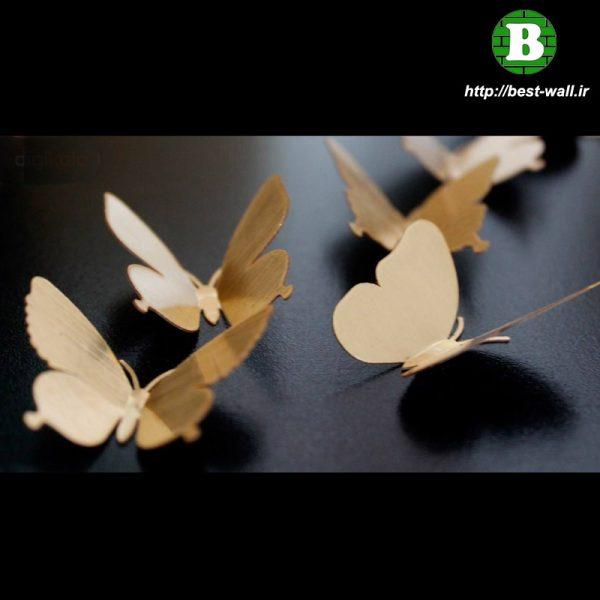 پروانه تزیینی سه بعدی